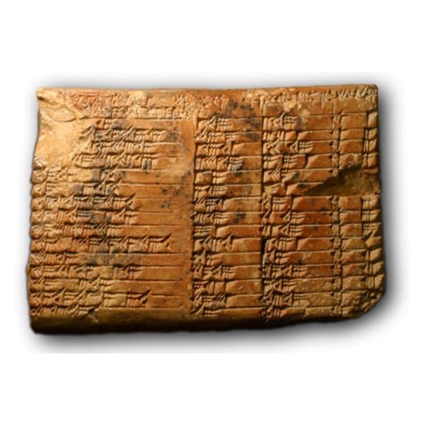 Plimpton 322, a Babylonian table