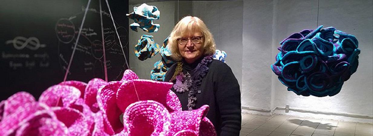 """Daina Taimina, """"Hyperbolic Crochet"""" [image credit: FAD magazine]"""
